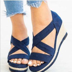 5.5 Blue Espadrille Sandals